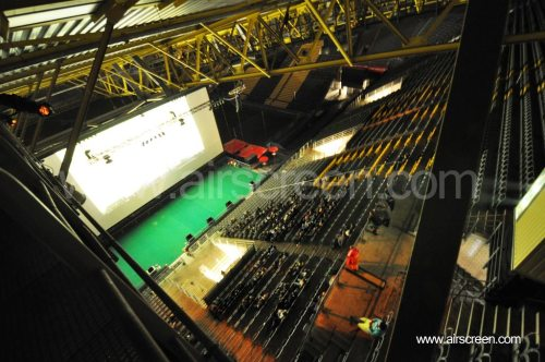 Freiluftkino im Stadion