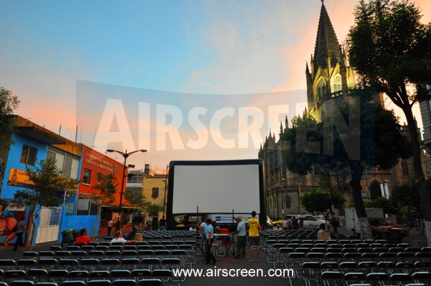 Open-Air-Kino in Mexiko