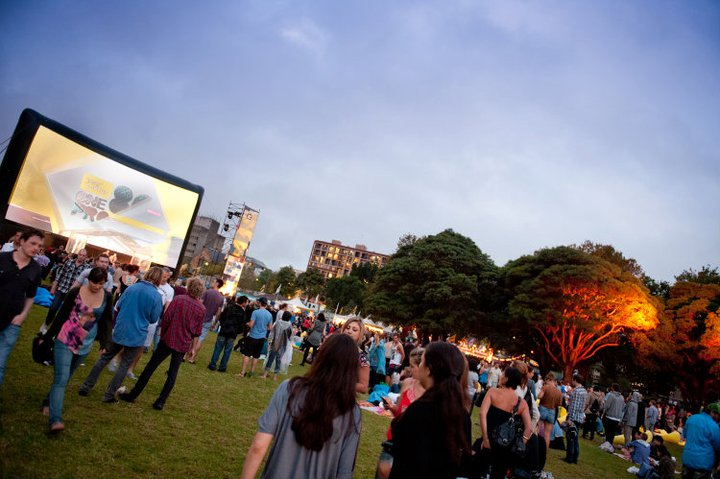 Open air cinema in Australien