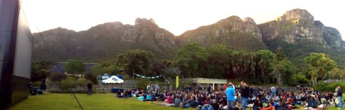 Open-Air-Kino in Kapstadt, Südafrika